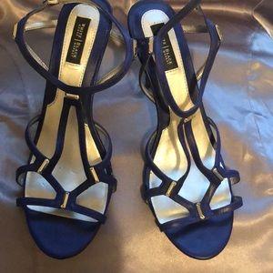 Royal blue White House Black Market Sandals.